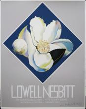 Lowell Nesbitt Silkscreen Exhibition Poster 1981