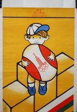 1980 Moscow Olympic Poster, Boy with Ball