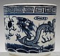 Chinese Blue and White Porcelain Brushpot