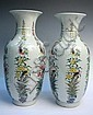 Pair Chinese Porcelain Phoenix Vases 19th C.