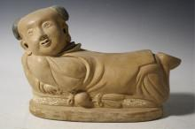 Chinese Porcelain Boy Pillow poss. Ming