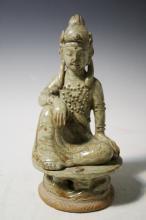 Chinese Yuyao Figure of Kanin poss. Five Dynasty