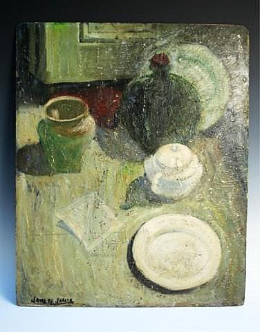 Spanish Jamie de Jaraiz Still Life Oil Painting