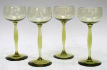 Set of 4 Jugendstil Champagne Glasses By Behrens