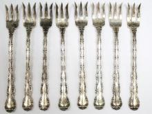 Eight Gorham Sterling Oyster Forks
