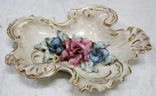 Capodimonte Style Porcelain Tray