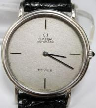 Omega De Ville 18k White Gold Watch, Vintage Swiss