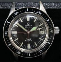 Certina Swiss Diver's Watch, 27 Jewels