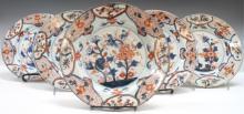 5 Imari Porcelain Plates, Japanese or Chinese
