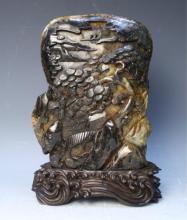 Chinese Carved Brown Jade Carving