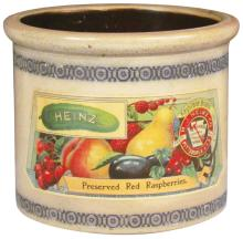 Heinz Preserved Raspberries Salt Glazed Crock