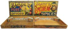 Two Slade's Spice Boxes
