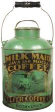 Milk Maid Java Mocha Coffee Mill Pail Tin