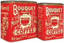 Two Bouquet Coffee Tins