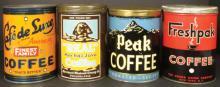 Four One Pound Coffee Tins