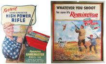 Two 1957 Remington Signs