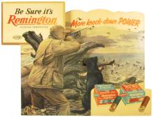 1957 Remington Cardboard Dimensional Display