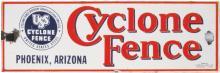 Porcelain USS Cyclone Fence Sign, Phoenix, AZ.