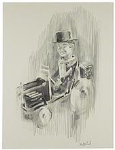 Charlie McCarthy Original Pencil Drawing