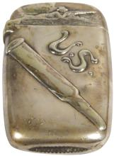 Reed & Barton Silver Plated Match Safe