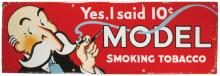 Model Smoking Tobacco Porcelain Sign