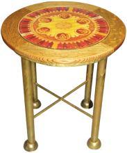 Upright Slot Machine Dial Oak End Table