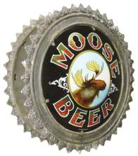 RARE Moose Beer Reverse Glass Canister Sign