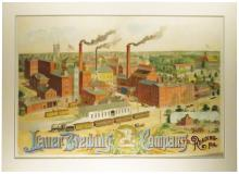 Lauer Brewing Company Paper Sign