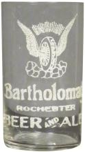 Bartholomay Beer and Ale Etched Bar Glass