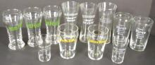 Collection of Soda Fountain Enameled Glasses