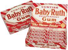 Curtiss Baby Ruth Peppermint Gum Display Box