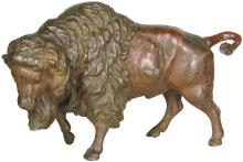 Cast Iron Trick Buffalo Still Bank