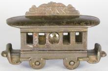 Trolley Car Cast Iron Still Bank