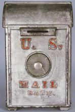 O.B. Fish Cast Iron US Mail Combination Bank