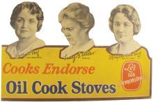 Oil Cook Stoves Die Cut Cardboard  Store Display