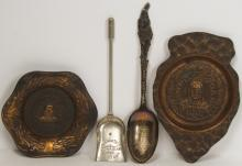 Four Round Oak Stove Items
