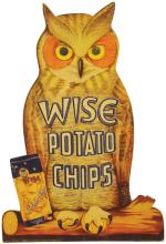 Wise Potato Chips Cardboard Easel Back Sign