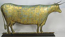 Full Body Long Horn Cow Weathervane