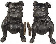 Cast Iron Figural Fireplace Grate Holders