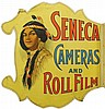 Seneca Cameras and Roll Film Die Cut Flange Sign