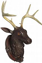 Hand Carved Deer Mount