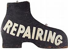 Shoe Repair Wood Die Cut Trade Sign