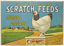 Park Pollard Co. Scratch Feeds Embossed Tin Sign