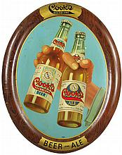 Cook's Goldblume Beer Self Framed Tin Sign