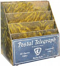 Postal Telegraph Tin Letter Holder