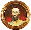 Portrait of Stonewall Jackson Oil on Board