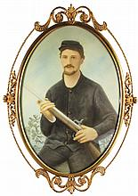 Civil War Confederate Solder Portrait