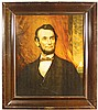 Abraham Lincoln Self Framed Tin Sign