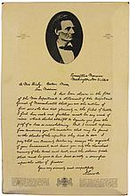 Abraham Lincoln Fac Simile Letter