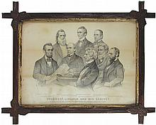 Early Political Currier & Ives Litho Print